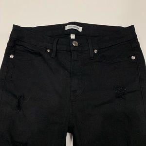 Good American Legging Jeans Distressed Black